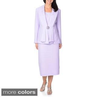 Giovanna Signature Women's Lilac 3-piece Skirt Suit