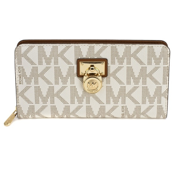 MICHAEL Michael Kors Hamilton Signature Zip Around Continental Wallet