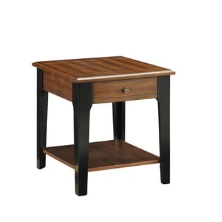 Magus Brown Oak and Black End Table