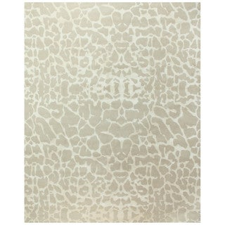 Grand Bazaar Hand-knotted Wool & Art Silk Radiance Rug in Ivory 4' x 6'
