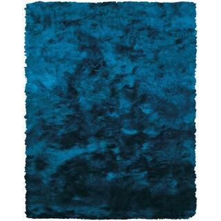 """Hand-tufted Contemporary Blue Rug (2' X 3'-4"""")"""