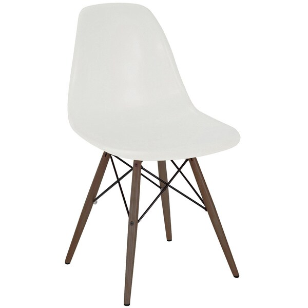 Mid-century Almond Side Chair with Walnut Wood Base (Set of 5)