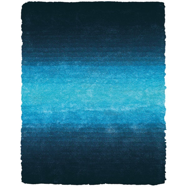 "Grand Bazaar Tufted Polyester Pile Isleta Rug in Blue 7'-6"" x 9'-6"""
