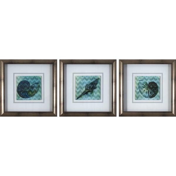 12X12 Chevron Shell Framed Art Print