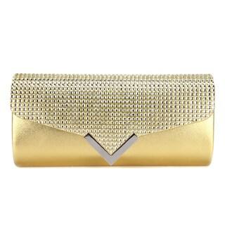 Anladia Women's Crystal Rhinestone Embellished Flap Clutch Handbag
