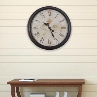 30-inch Antique Map Clock