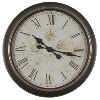 24-inch Global Antique Map Clock