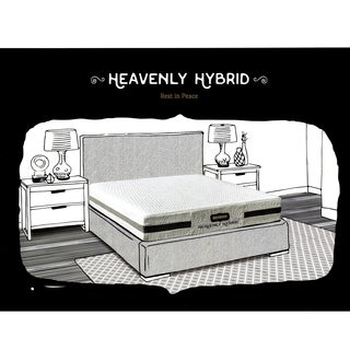 Bed Boss Heavenly 10-inch King-size Gel Memory Foam Mattress with 2 Bonus Pillows
