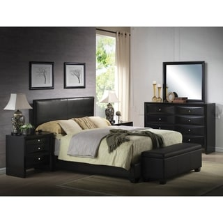 Ireland Black PU Queen Bed