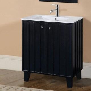 30-inch Black Finish Single Sink Soft-closing Doors Bathroom Vanity