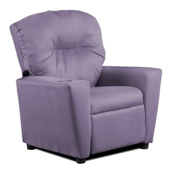 Kids Grape Suede Recliner