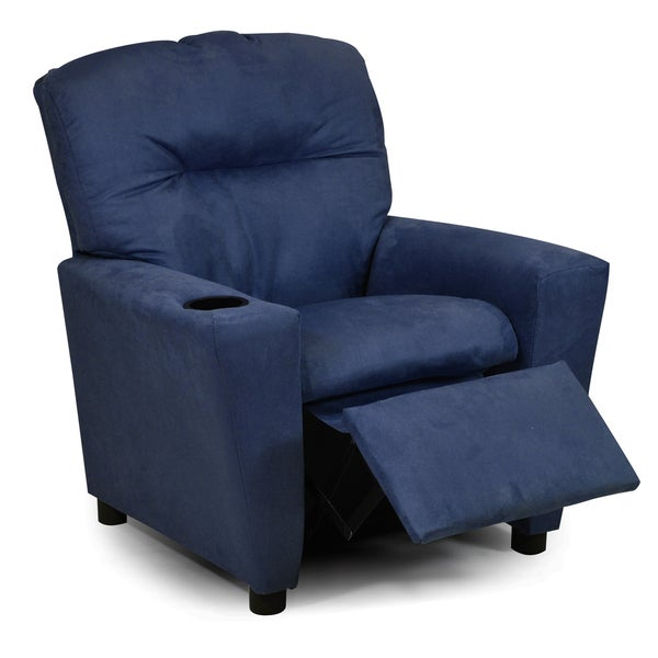 Navy Suede Tween Chair
