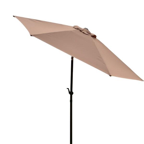 Corvus 9-foot Khaki Colored Patio Umbrella with Vented Top