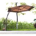 Corvus Wedge Coffee/ Khaki Colored 10-foot Offset Umbrella
