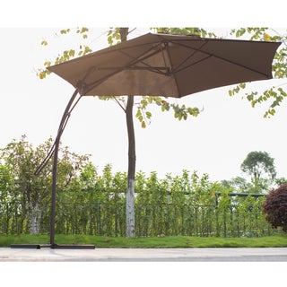Corvus 10-foot Coffee Colored Offset Patio Umbrella