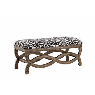 Hawfinch Zebra Print Accent Bench