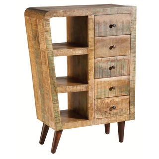 Orbit Natural Printed 5-drawer Chest