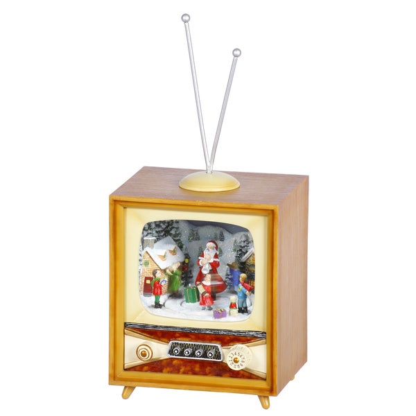 Mini Santa TV Music Box
