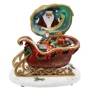 Santa's Sleigh 8-inch Music Box