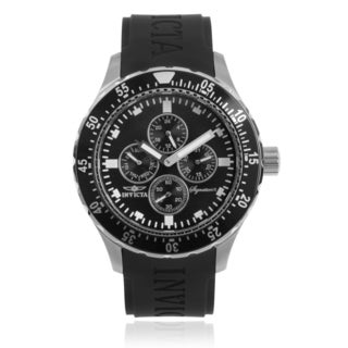 Invicta Men's 7401 'Signature' Black Polyurethane Wrist Watch