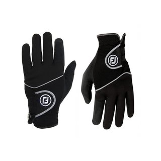 FootJoy RainGrip Black Golf Gloves
