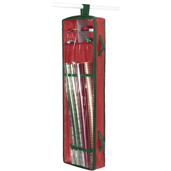 Hanging Wrapping Paper Organizer