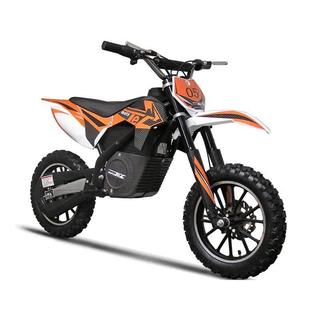 MotoTec 24v 500w Orange Electric Dirt Bike