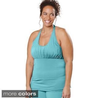 Live Life Large Women's Plus Size Tie Halter Top