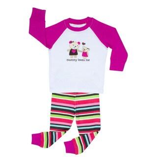 Elowel Girls 'Mommy Loves Me' 2-piece Pajama Set (2T-8Y)