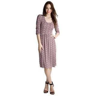 DownEast Basics Women's Floral Knit Dress