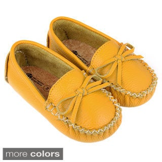 Augusta Toddler's Gommino Sole Leather Moccasin Flats
