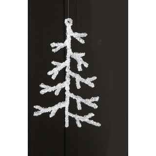 Sage & Co 8-inch Acrylic Ice Christmas Tree Ornament (Pack of 6)