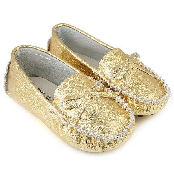 Augsta Toddler's Leather Gommino Sole Moccasin Flats