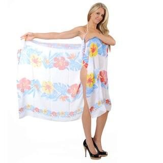 La Leela Tri-color Floral Printed Sarong