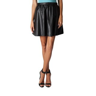 Women's Vegan Leather A-line Circle Skirt
