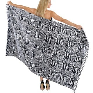 La Leela Animal Print Beach Wrap Pareo Sarong