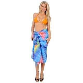 La Leela Women's Diamond Tie-dye Sarong Cover-up