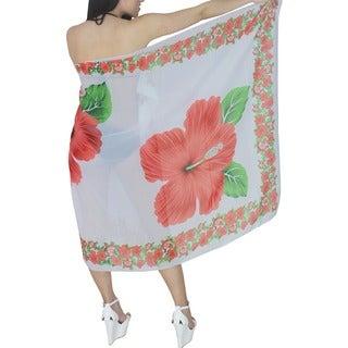 La Leela Hibiscus Floral Chiffon Sarong