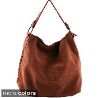 24/7 Comfort Apparel Faux Suede Tote