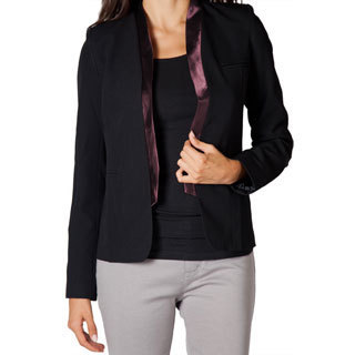Women's Black Contrast Evening Blazer