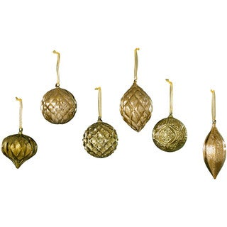 Sage & Co Glass Chateaux Vintage Christmas Ornaments (Pack of 6)