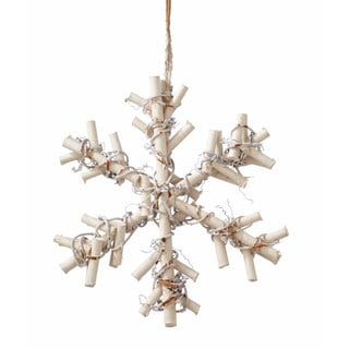 Sage & Co 9-inch Frosted Twig Snowflake (Pack of 8)