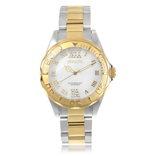 Invicta Women's 17871 'Pro Diver' Stainless Steel Cubic Zirconia Link Watch