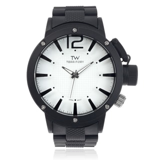 Territory Men's Round Face Silicone Band Watch