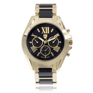 Journee Collection Round Face Roman Numeral Watch