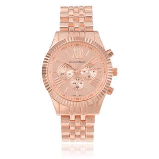 Journee Collection Roman Numeral Link Watch