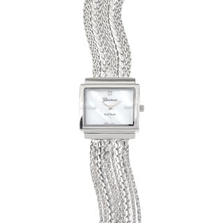 Geneva Platinum Rhinestone Fashion Chain Watch