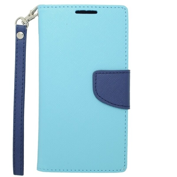 INSTEN Leather Folio Book-Style Flip Phone Case Cover With Stand For ZTE Warp Sync N9515