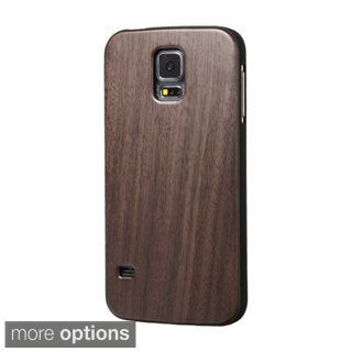 INSTEN Walnut TimberWood Hard Snap-On Phone Case Cover For Samsung Galaxy S5 SM-G900