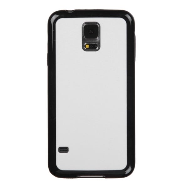 INSTEN White/Black Rubberized Hard Snap-On Phone Case Cover For Samsung Galaxy S5 SM-G900